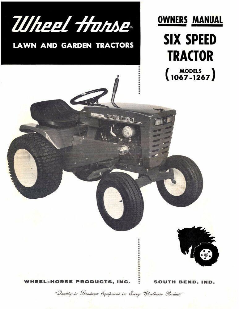Wheel Horse Tractor Engines : Wheel horse tractor operation service parts manual