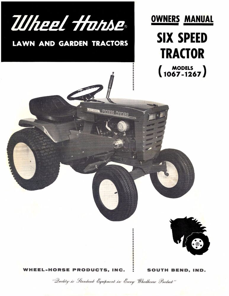 Parts Of A Tractor Wheel : Wheel horse tractor operation service parts manual
