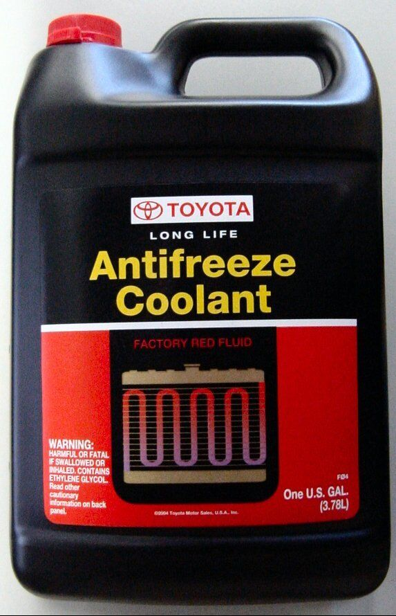 1 gallon toyota scion long life antifreeze coolant oem ebay rh ebay com toyota red coolant equivalent toyota red coolant price