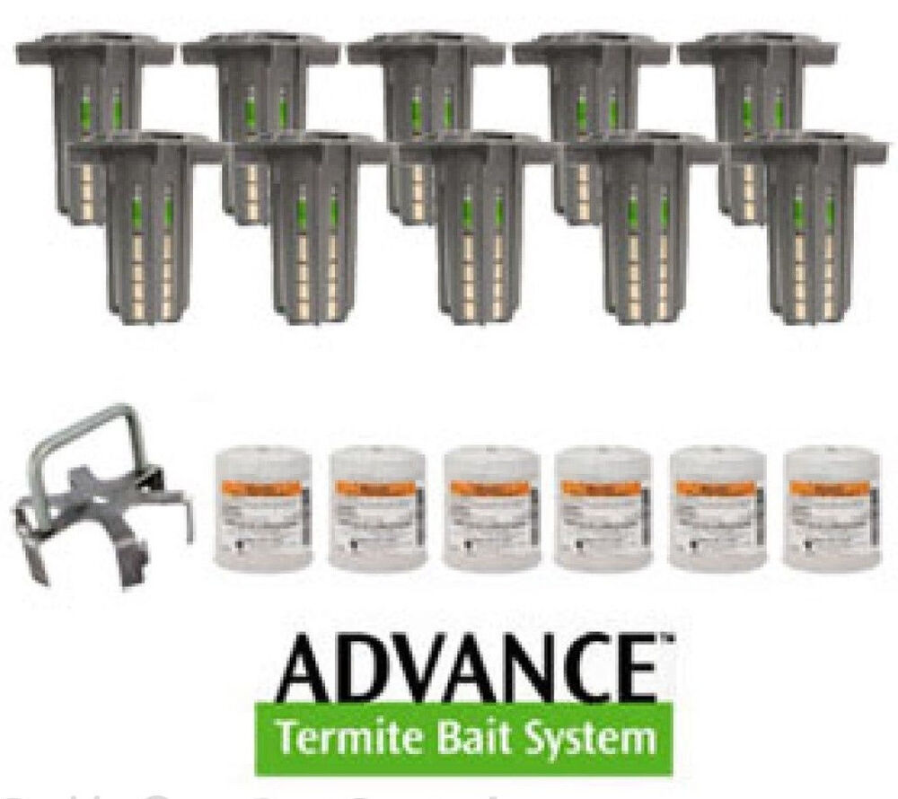 New Amp Improved Advance Termite Bait Station 25 6 Kit Ebay
