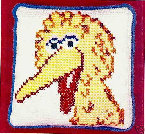 Free Crochet Fish Pillow Pattern : Kids BIG Yellow Bird Pillow/Decor/Crochet Pattern eBay