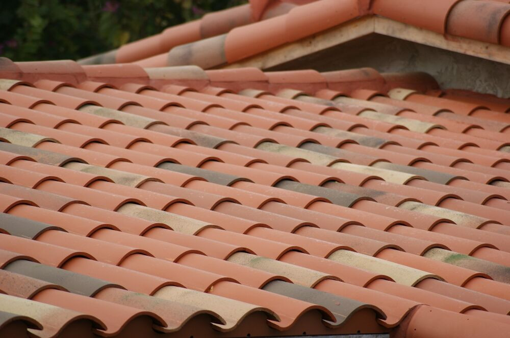 S type clay roof tile hip roofing spanish terracotta ebay for Clay tile roofs
