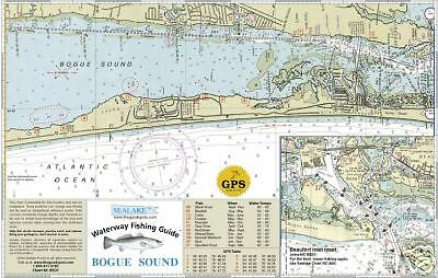 Sealake north carolina bogue sound fishing map chart ebay for New river nc fishing
