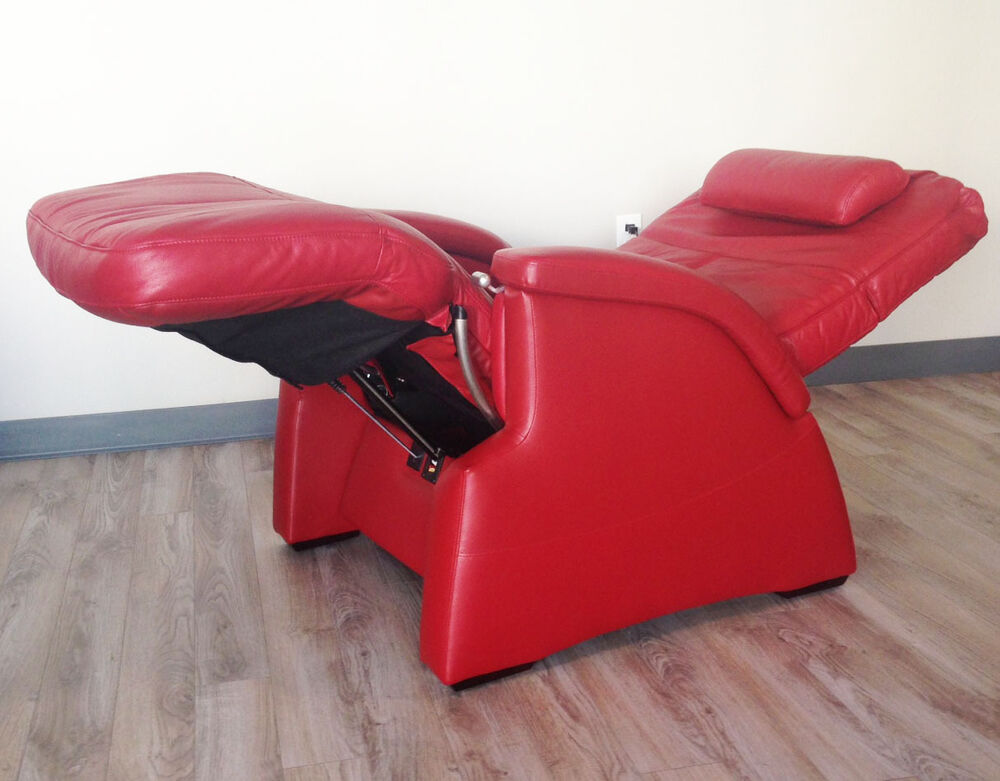 RED LEATHER THE PERFECT CHAIR RECLINER PC electric recline