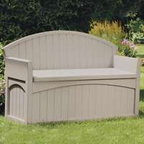 New Suncast Pb6700 50 Gallon Large Patio Storage Bench Ebay