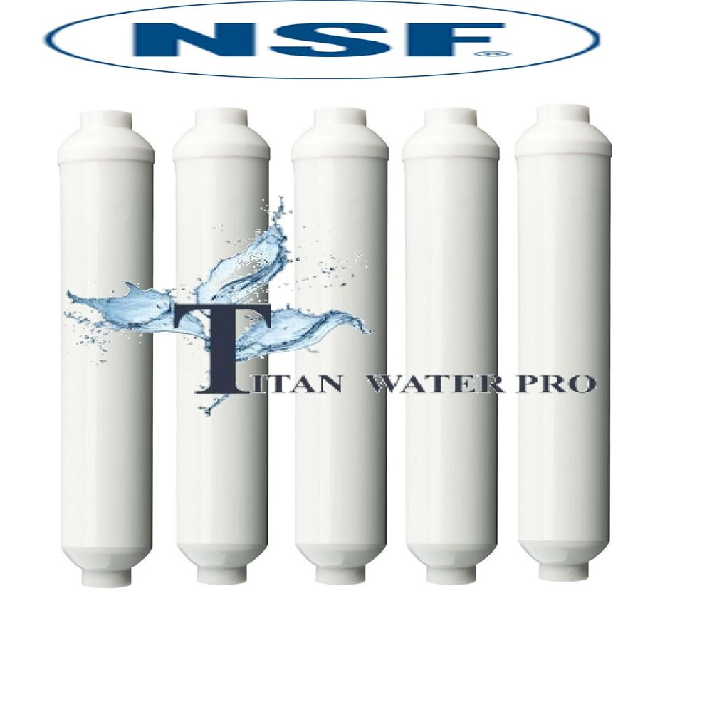 5pc reverse osmosis drinking water in line post carbon filter 2 x10 1 4 fnpt ebay. Black Bedroom Furniture Sets. Home Design Ideas