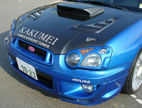 Carbon Bonnet Hood Scoop For 2004 2005 Blob Eyed Subaru
