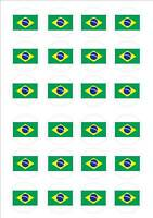 Brazil - World Cup Flags Fairy Cake Toppers x 24