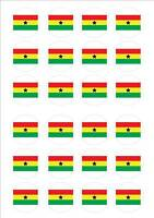 Ghana - World Cup Flags Fairy Cake Toppers x 24