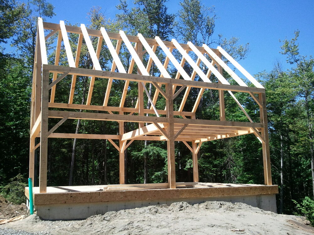 Ward Timber Frames Llc Includes Erection Custom Ebay