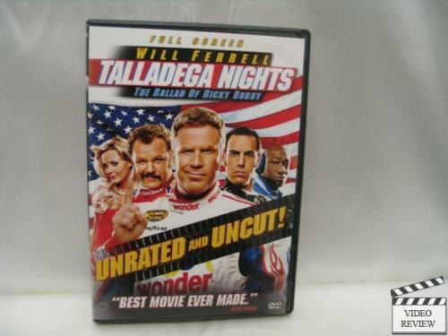 talladega nights dvd fullscreen unrated will ferrell ebay. Black Bedroom Furniture Sets. Home Design Ideas