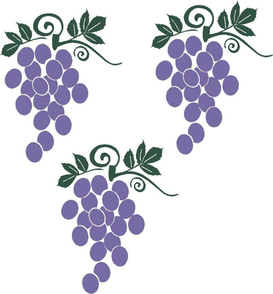 Grapes Fruit Wall Stickers Vinyl Kitchen Decor Decal EBay