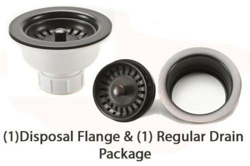 Oil Rubbed Bronze Copper Kitchen Sink Drain Package