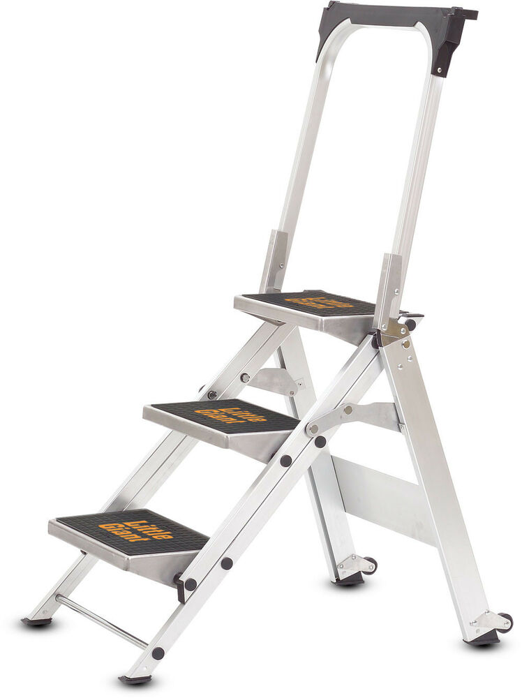 3 Step Little Giant Safety Step Ladder Jumbo 10310b Ebay