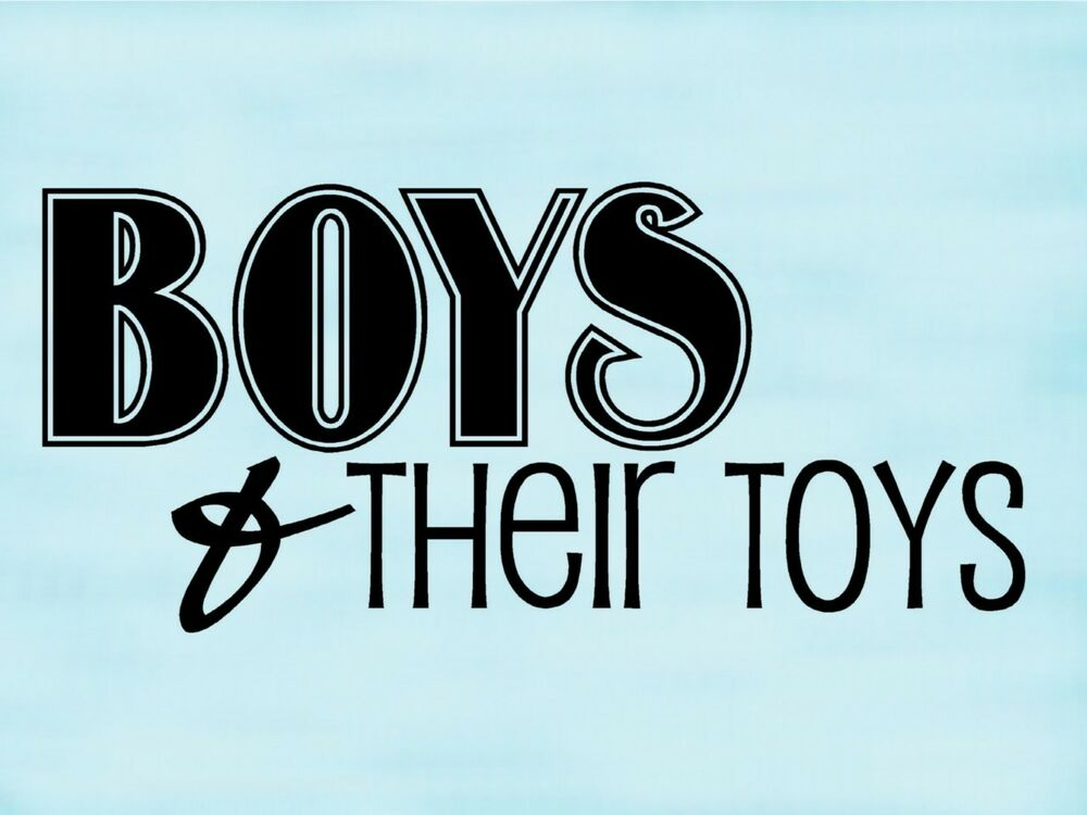 Boys Amp Their Toys Wall Lettering Decal Sticker Words Ebay