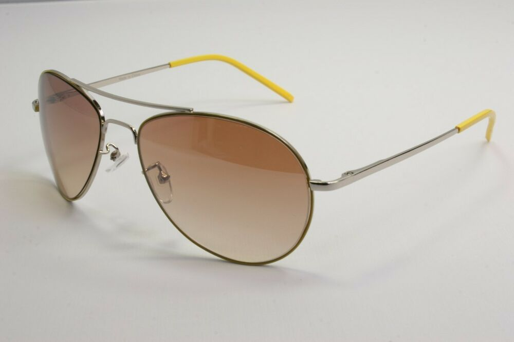 Cool Metal frame yellow aviator brown lens sunglasses eBay