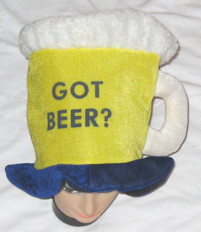 Large White Yellow Blue Beer Mug Hat Halloween Costume Ebay & Beer Mug Halloween Costume - Meningrey