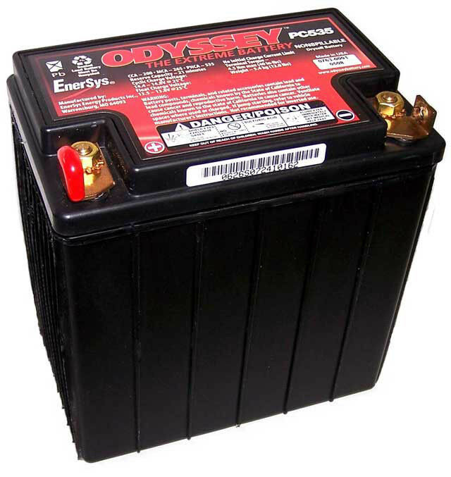 odyssey pc535 custom motorcycle battery modified for bmw r1200gs ebay. Black Bedroom Furniture Sets. Home Design Ideas
