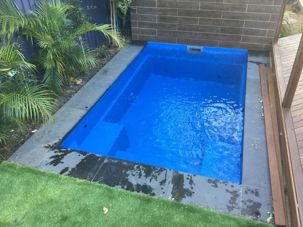 4m x new design modern slimline plunge kit pool ebay for Garten pool 2 5m