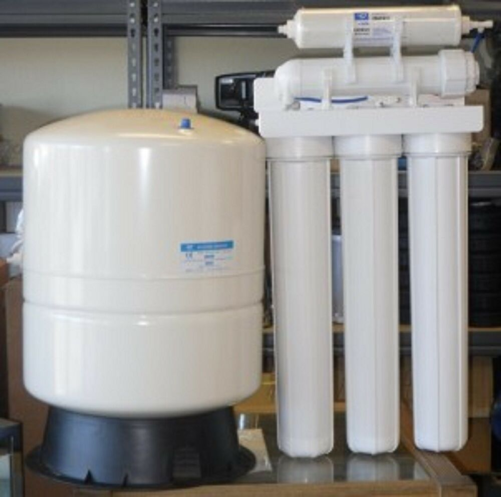 ro reverse osmosis water filter system 300 gpd 14 gallon tank light commercial ebay. Black Bedroom Furniture Sets. Home Design Ideas