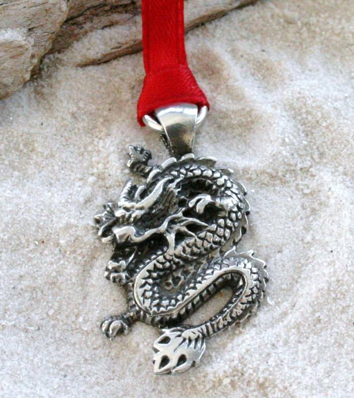 Pewter CHINESE DRAGON CHINA Christmas ORNAMENT Holiday | eBay