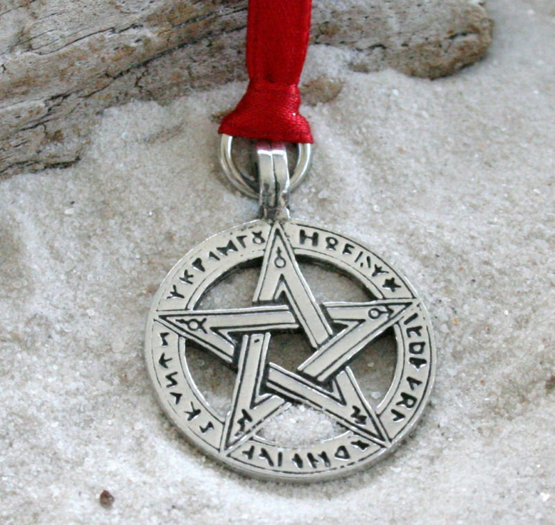 History Of The Christmas Tree Pagan: PENTAGRAM RUNES PAGAN Pewter Christmas ORNAMENT Holiday