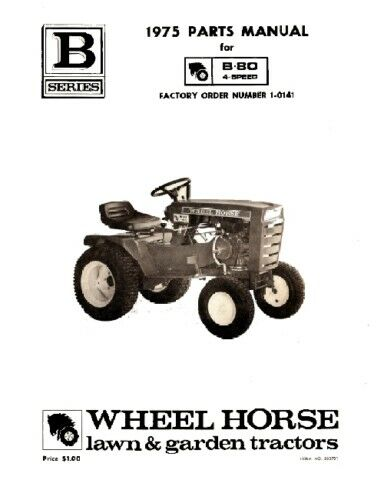 Parts Of A Tractor Wheel : Wheel horse tractor parts manual b n speed ebay