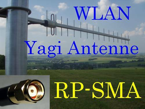 wlan antenne richtantenne yagi 19dbi 4m netgear wifi ebay. Black Bedroom Furniture Sets. Home Design Ideas