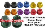 Savage BMX Bike Wheel Axle Nuts (PAIR) 7 colours ALLOY