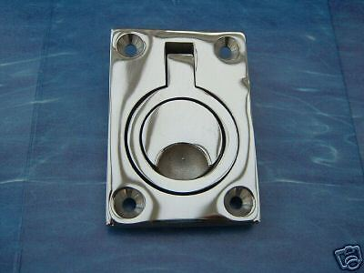 Stainless Steel 316 Hvy Recessed Ring Pull 63mm X 44mm Ebay