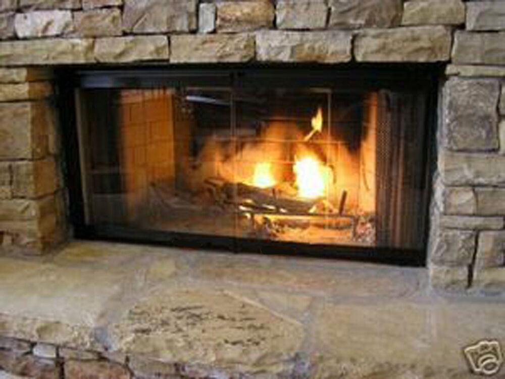 Set consists of 4 sections with each section containing 1 panel of glass and a top and bottom aluminum channel. 4 panels make up the fireplace glass door set. This set does not require any type of frame as long as you have one of the models listed below.