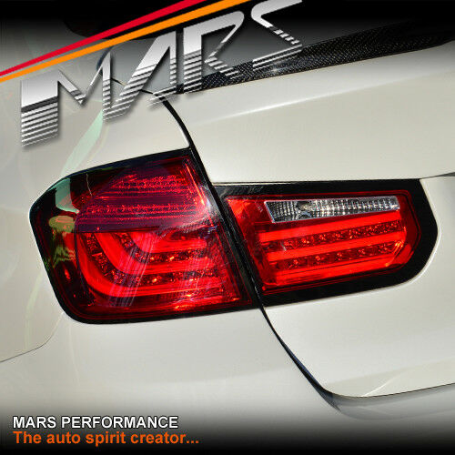 m5 style full red 3d stripe bar led tail lights for bmw 3. Black Bedroom Furniture Sets. Home Design Ideas