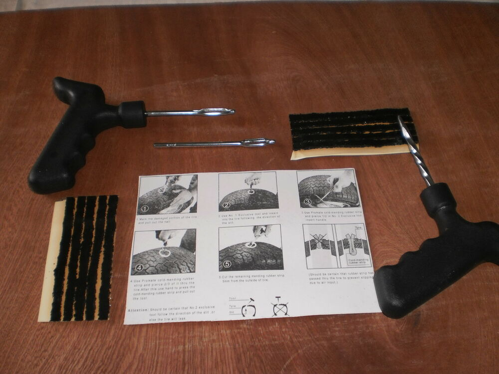 car tyre puncture repair kit with 10 strings with a free. Black Bedroom Furniture Sets. Home Design Ideas