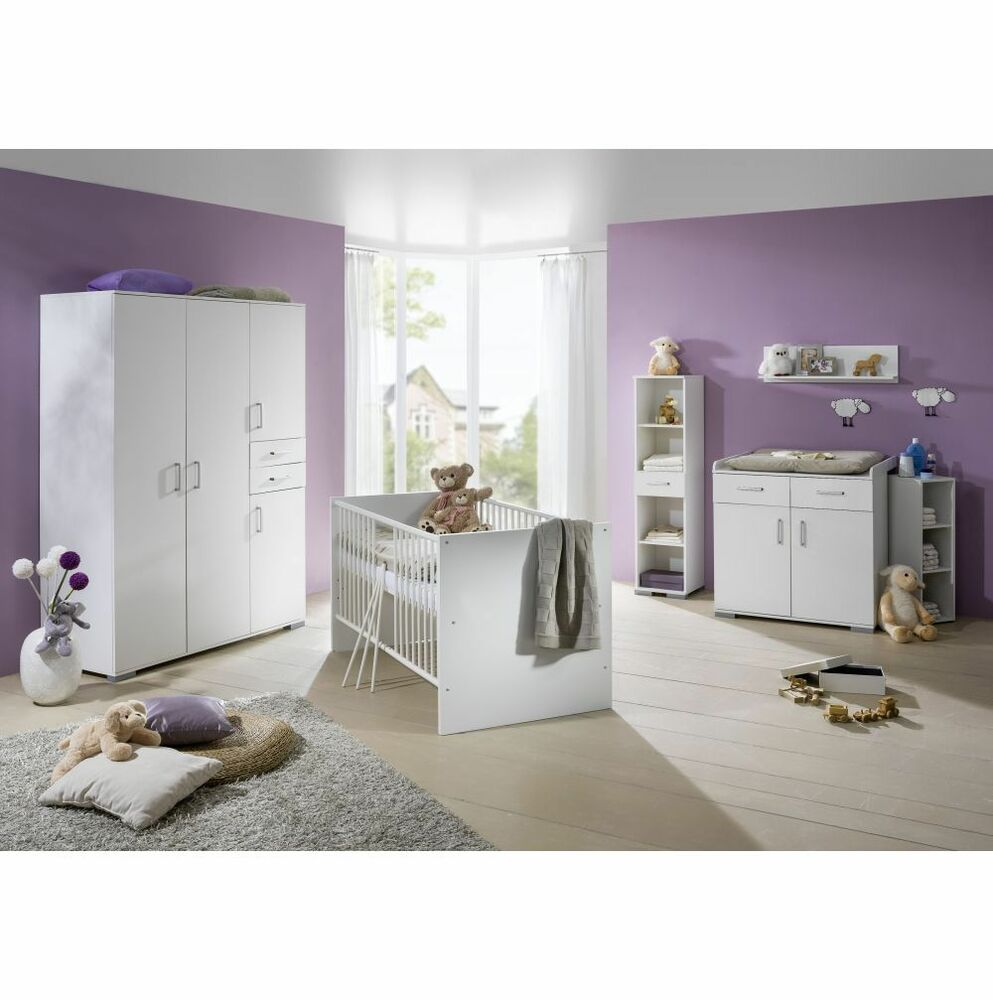 babyzimmer 5 tlg kinderzimmer komplett babybett neu ebay. Black Bedroom Furniture Sets. Home Design Ideas