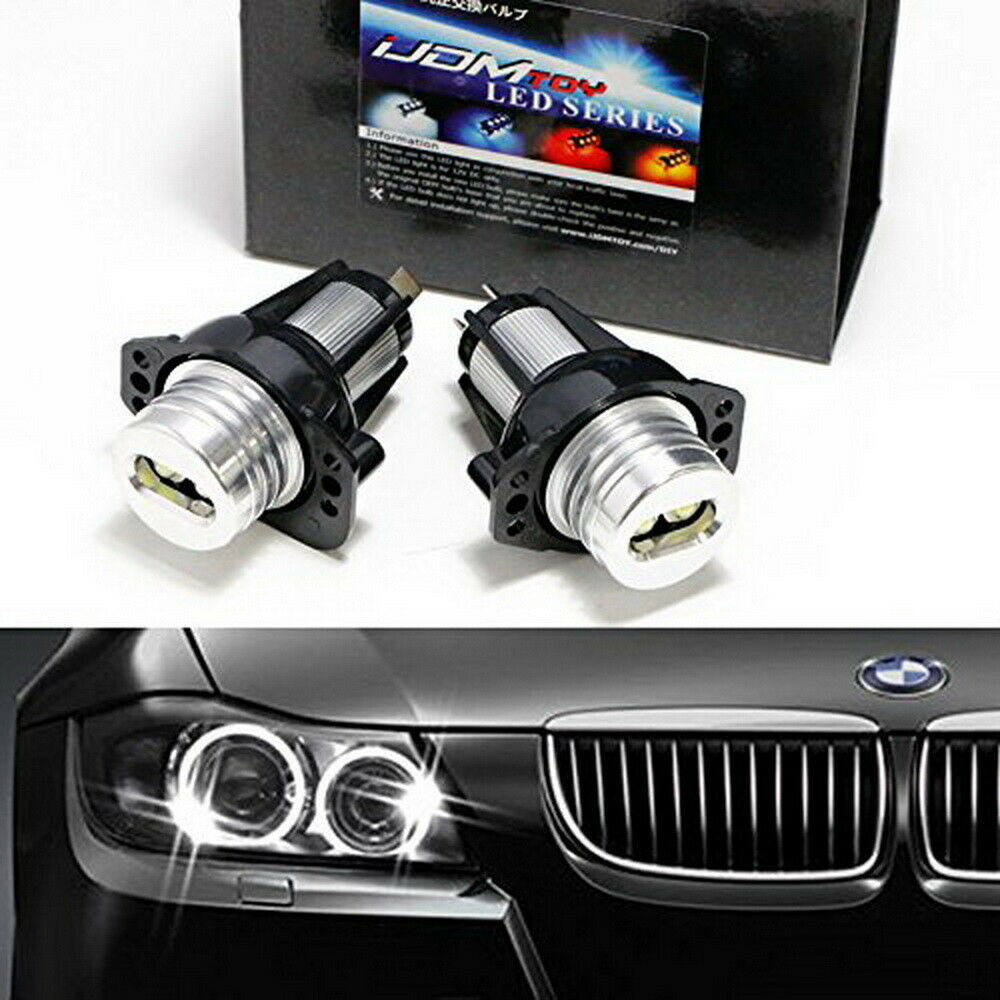 12w cree led angel eyes ring marker bulbs lights for 06 08 bmw e90 e91 3 series ebay. Black Bedroom Furniture Sets. Home Design Ideas