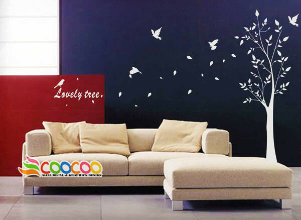 Removable Vinyl Wall Decor : Wall decor decal sticker removable vinyl large tree quot