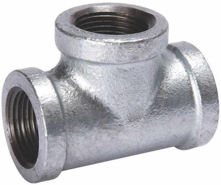 4 In Duct Fittings : New b k bc quot inch galvanized pipe threaded tee