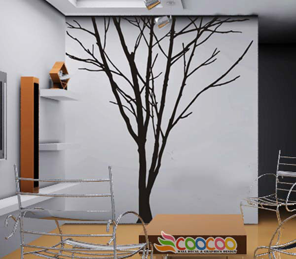 Wall decor decal sticker removable large 78 tree trunk ebay for Decor mural wall art