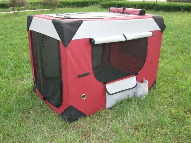 Puppy power portable pet home collapsible dog kennel for Xl soft dog crate