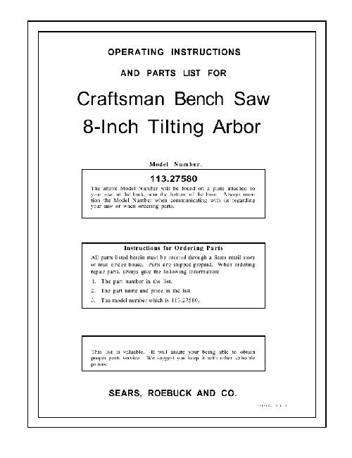 craftsman drill press manual pdf