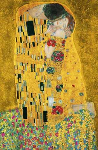 fototapete the kiss 115x175 kuss gustav klimt adele kunst kunstdruck jugendstil ebay. Black Bedroom Furniture Sets. Home Design Ideas