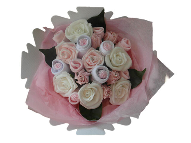 Handmade Baby Gifts Uk : Baby clothes bouquet handmade girl shower gift new