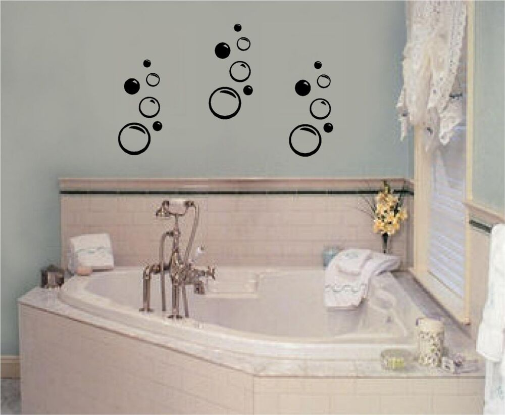 Bubbles Vinyl Wall Decal Stickers Decor Bathroom Art | eBay