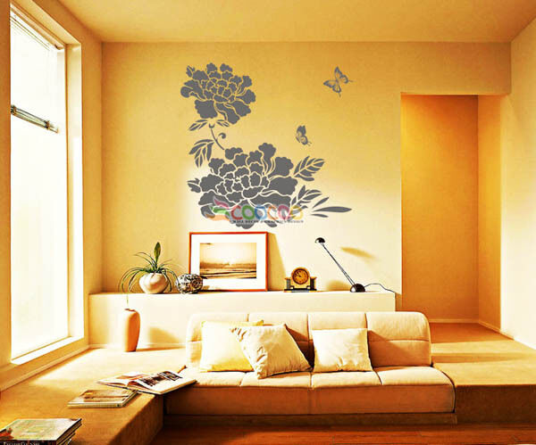 Wall Decor Decal Sticker Removable Tree Peony Flower