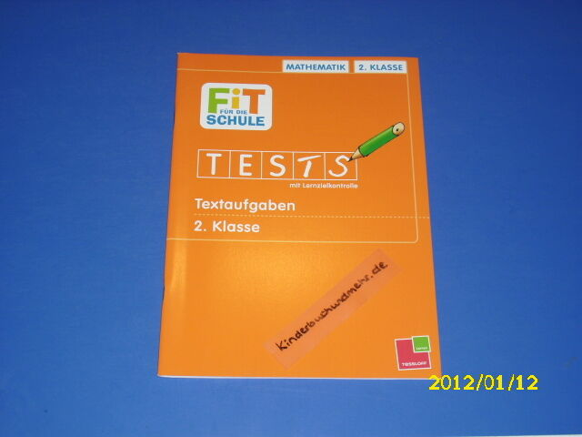 fit f r die schule tests textaufgaben 2 klasse mathe 9783788625849 ebay. Black Bedroom Furniture Sets. Home Design Ideas