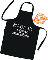 Brilliant BIRTHDAY Gift Printed apron MADE IN 1988