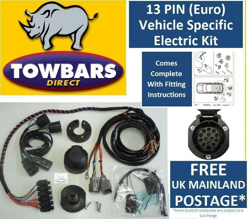 Pleasant 13 Pin Towbar Wiring Kit For Land Rover Discovery 3 Dedicated Wiring Cloud Staixuggs Outletorg