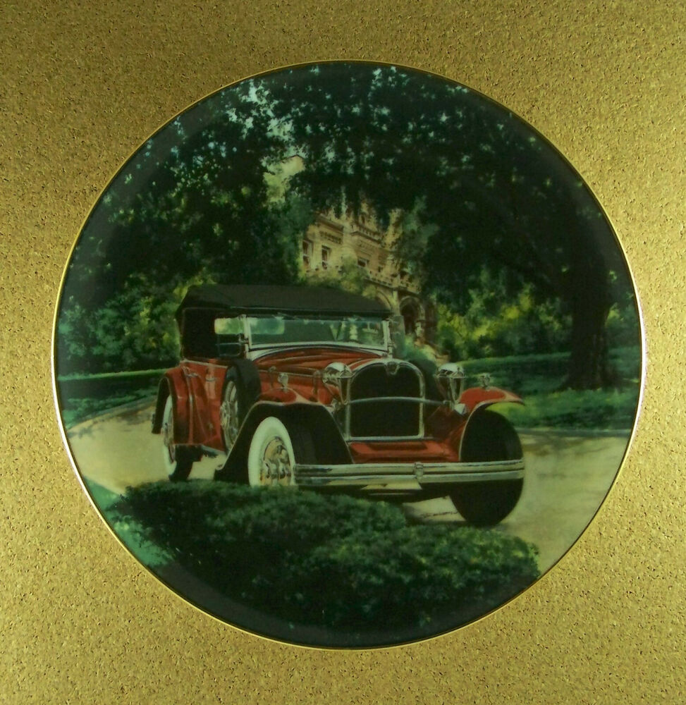 Ruxton 39 31 straight phaeton classic american cars plate for American classic antiques