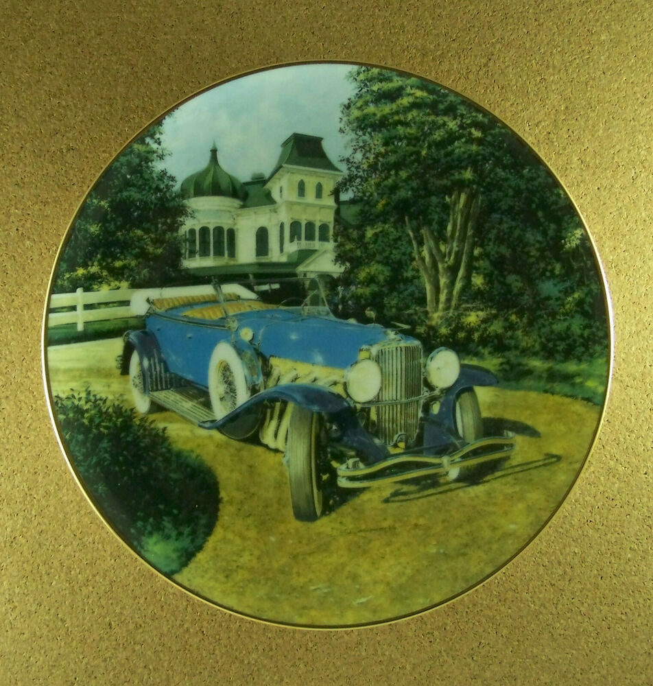Duesenberg 1930 dual cowl classic american cars plate for American classic antiques