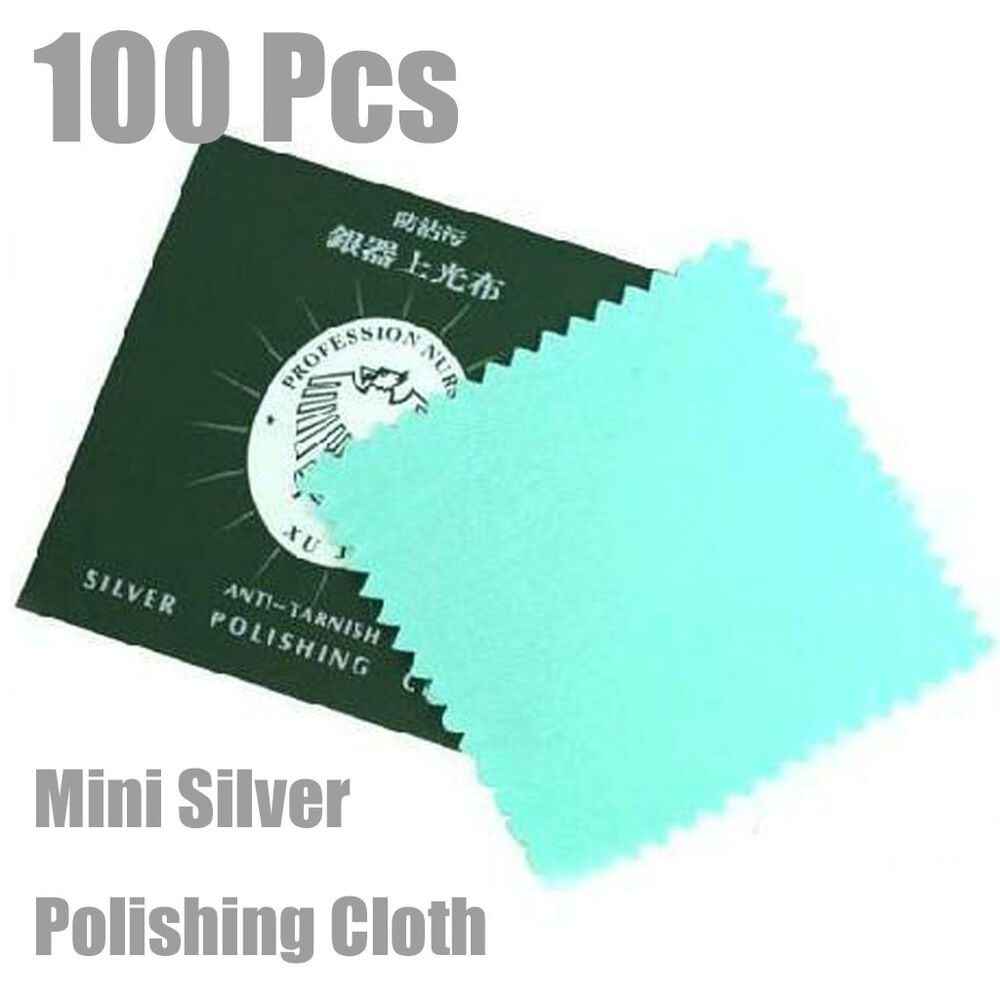 100pcs Mini Silver Polishing Cloth Jewelry Cleaner New | eBay